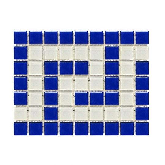 Фриз греческий Aquaviva Cristall сине-белый B/W