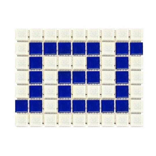 Фриз греческий Aquaviva Cristall бело-синий W/B