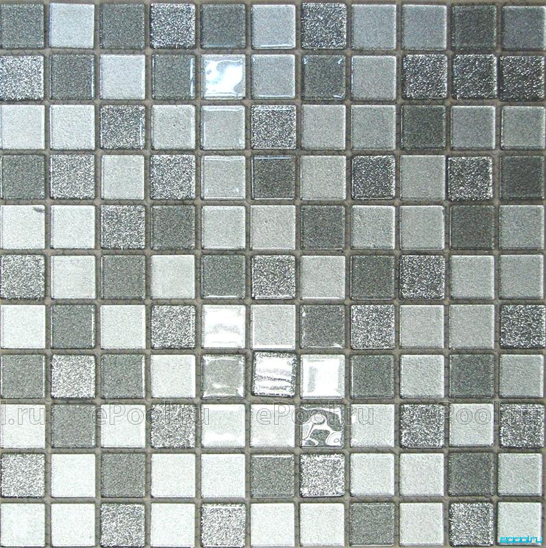 Мозаика стеклянная Bonaparte Shine Silver