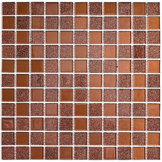 Мозаика стеклянная Bonaparte Shine Brown
