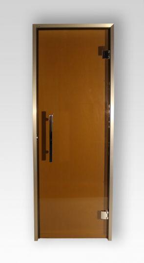 Дверь для хамама и сауны Grandis GS стекло бронза прозрачная
